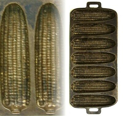 Antique/Vintage Primitive American Cast Iron Ear Corn Cob Bread Stick Cake Mold