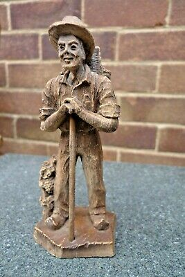 Vintage Black Forest Style Grape Picker Figure - Made In France