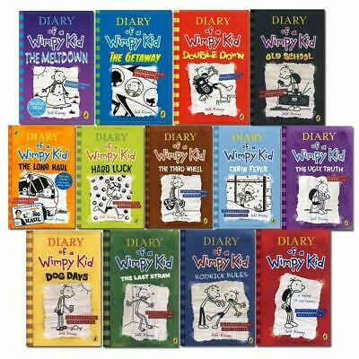 Diary Of A Wimpy Kid Collection 🔥 13 Books 🔥 Set By Jeff Kinney ‮ FDP