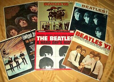 6 THE BEATLES MONO LP LOT Meet 65 Rubber Soul Something New VI A Hard Days Night