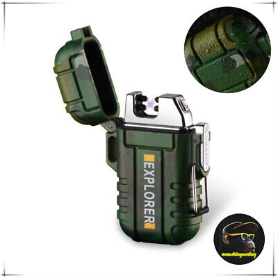 Dual Arc Waterproof USB Rechargeable  Windproof Plasma Lighter  outdoor use