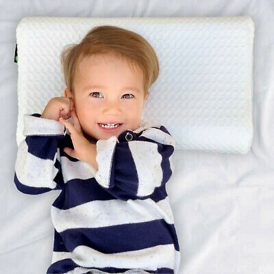 Toddler Pillow Baby Kids Cot Pillow Waterproof Includes 2x Cotton Pillowcases