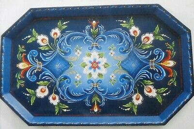 "Judy Diephouse/Lynne Deptula tole painting pattern ""Rosemaling Tray"""
