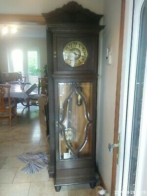 Antique Superb Carved Oak  8Day  Longcase / Grandfather  Clock