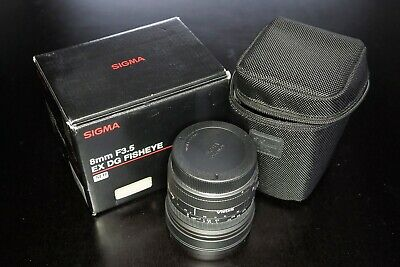 Sigma 8MM F/3.5 EX DG Fisheye Lens for Canon - used and in excellent condition