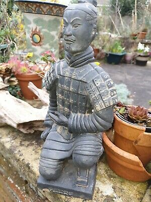 Chinese Clay Soldier Terracotta Warrior Kneeling Knight Statue Figurine boxed