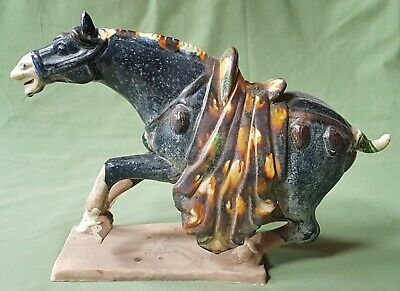 Large impressive Chinese Tang Pottery glazed Horse, all from a collection #1