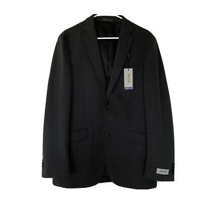 Kenneth Cole Mens Size 40L Flex Suit Jacket Sport Coat Dark Gray Charcoal Nwt