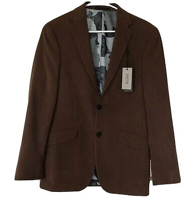 Kenneth Cole Reaction Mens Size 36R Suede Sport Coat Suit Jacket Brown New