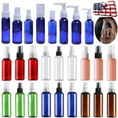 10x 30/50/100ml Travel Plastic Perfume Atomizer Empty Spray Bottle Makeup Lot US