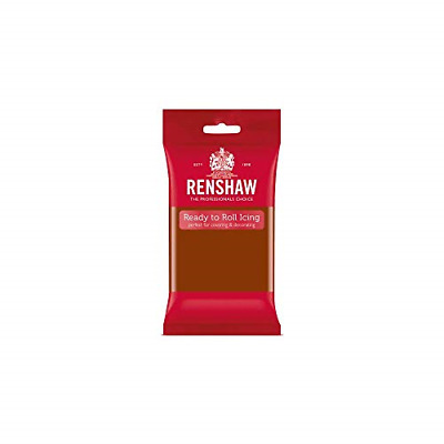 Renshaw Ready-to-Roll Coloured Icing � 250g Dark Brown