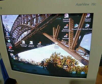 Retro Acer AcerView 76c 7276c 17 inch crt monitor used