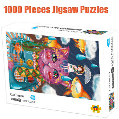 Cat Baron Mini Jigsaw 1000 Pieces Puzzles Adult Kid Creative Toy Reduce Pressure
