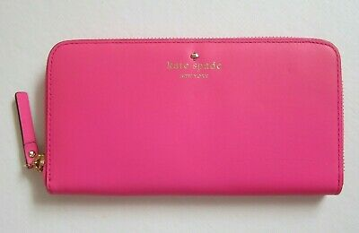 Kate Spade New York Leather Wallet Zip Around Park Avenue Sweets NWT