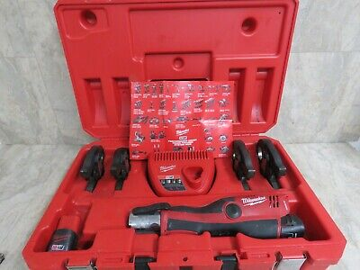 Milwaukee 2473-22 M12 Force Logic Press Tool Kit w/ 4Jaws+2batteries+charger