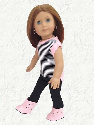 Doll Clothes Hi Lo T Shirt 3 piece outfit fits 18 inch American Girl