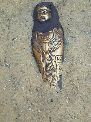 Rare Antique Ancient Egyptian Ushabti Servant minions winged Scarab 1850-1780 BC