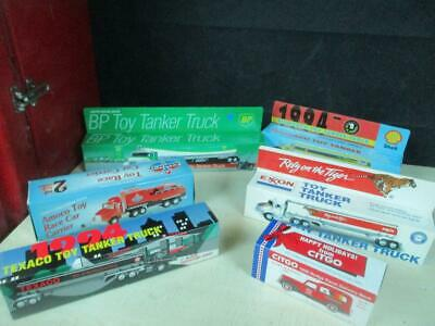 (7) Different Promo Toy Trucks Gas Station Oil Premiums Promo Mib Lot Nice!
