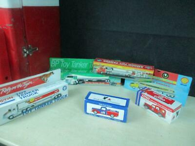 (6) Different Promo Toy Trucks Gas Station Oil Premiums Promo Mib Lot Nice!