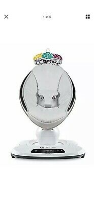 4Moms Mamaroo 4 Infant Reclining Seat Rocker Bouncer Swing 2018 Classic Grey NEW