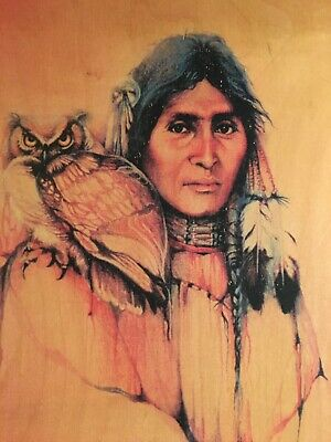 Vintage Medicine Woman Wooden Picture - Per Sounds Limited #25 Of 250
