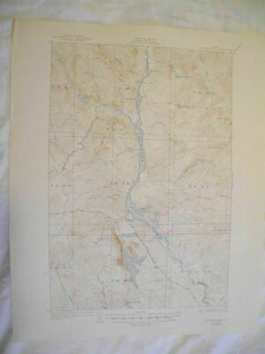 1947 Umsaskis Lake, ME Maine USGS Topographic Topo Map 2