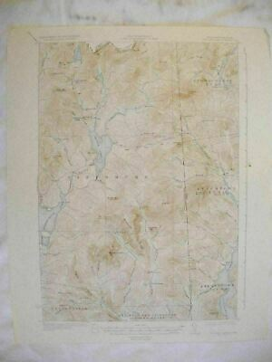 1932 Second Lake NH-ME New Hampshire Maine USGS Topographic Topo Map
