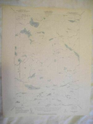 1954 Spider Lake, ME Maine USGS Topographic Topo Map