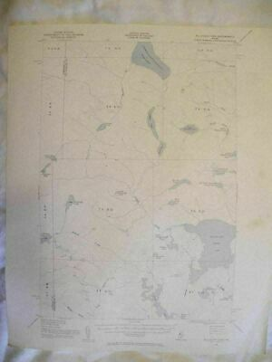 Vintage 1954 Alligash Lake, ME Maine USGS Topographic Topo Map