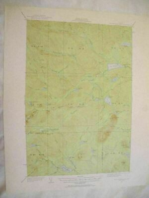 1920 Mooseleuk Lake, ME Maine USGS Topographic Topo Map