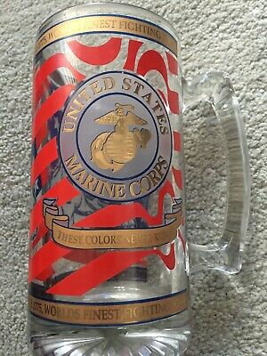 United States Marine Corpse Collectable Large Glass Beer Mug