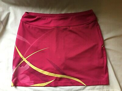 UNDER ARMOUR Pink & Yellow Running Fitness Skirt Skort - Wms S - Loose Fit - EUC