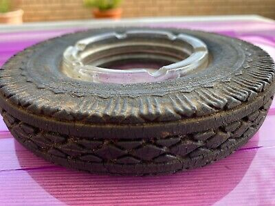 Vintage Goodyear Tyres Advertising Glass Ashtray. Very Collectable