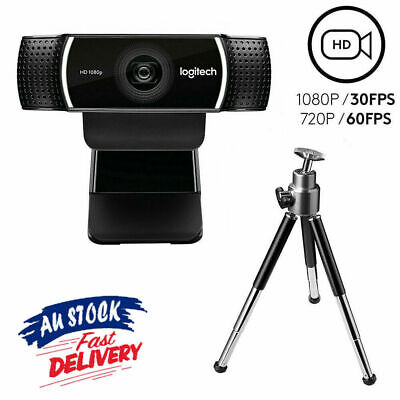 Logitech C922 Pro Stream HD Webcam - Black - 1080p for Streaming Recording