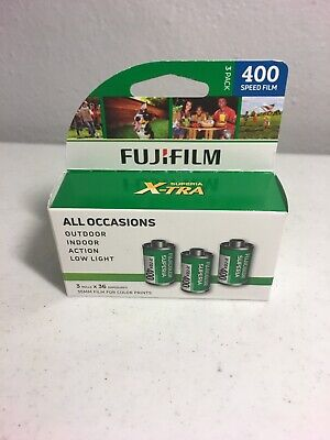 3 Pack Fuji Superia X-TRA CH ISO 400 36 Exp. 35mm Color Film Fujifilm Exp 11/21