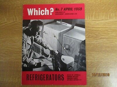 April 1959, WHICH? MAGAZINE, Refrigerators, Coupon Cutlery, Smoking Cures.