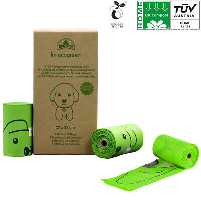 Earth Rated Dog Puppy Poo Bags Poop Waste Refill Roll Biodegradable Dispenser