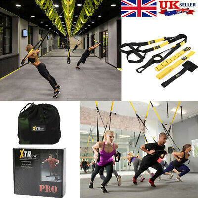 PRO XTR Suspension Trainer Straps Home Gym Fitness Resistance Bands Exercise
