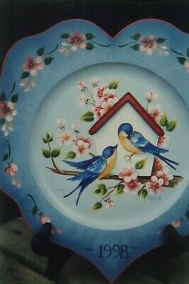 "Jill Paris Rody tole painting pattern ""Swallows with Birdhouse"""