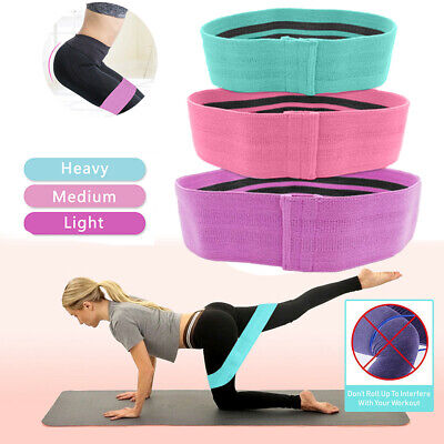 Resistance Bands Hip Circle Loop Rotation Glute Elastic Exercise Home Fitness UK