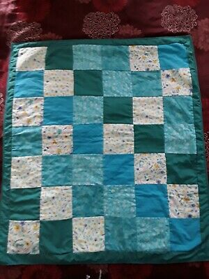 Cheerful  Baby Cot Quilt Mermaid Sea theme Greens/blues cool cover 100% cotton