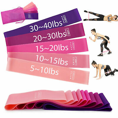 US Workout Resistance Bands Loop Set Fitness Yoga Booty Leg Exercise Band HOT