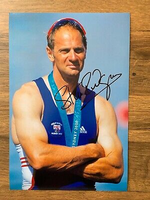 STEVE REDGRAVE - Hand Signed 12x8 Photo - Team GB Olympics Gold - Athletics