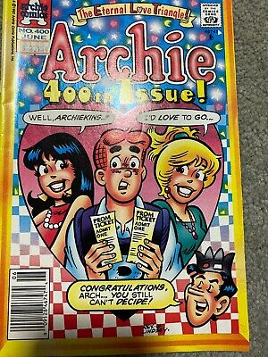 Archie Comic No 400 June 1992