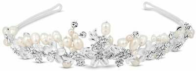 Butterfly Matthew Williamson Designer crystal flower and freshwater pearl tiara