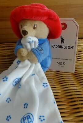 Marks & Spencer Bnwt Paddington Bear Baby Comforter Blankie Soother M&S