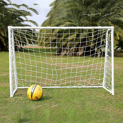 6 x 4ft Football Soccer Goal Post Nets For Sports Training Match Replace WhiteV&