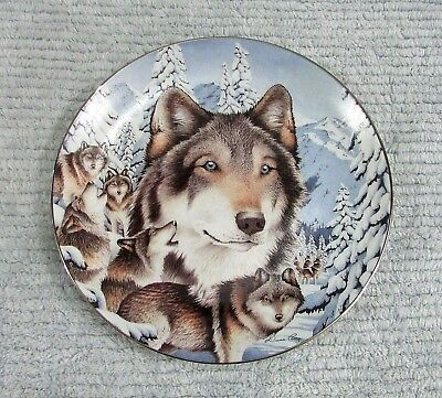 Midnight Mystic Diana Casey Wolf Window To The Soul 1997 Bradford Plate FREE S/H