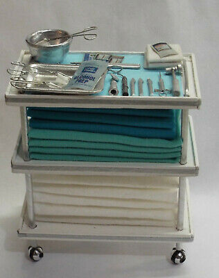 Dollhouse miniature handcrafted BIOHAZARD small canister Science Hospital 1//12th