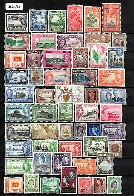 Stockbook Page of Vintage Mint Commonwealth Stamps (A32)
